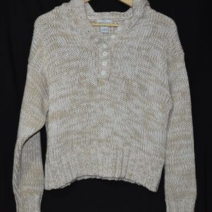 Soft Surroundings Women's ivory/white sweater sz M